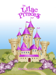 The Lilac Princess NEW Book Cover with a castle and lilacs